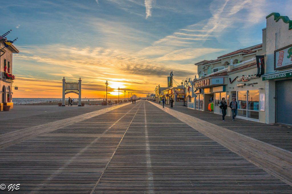 Ocean City Boardwalk Sunset 1