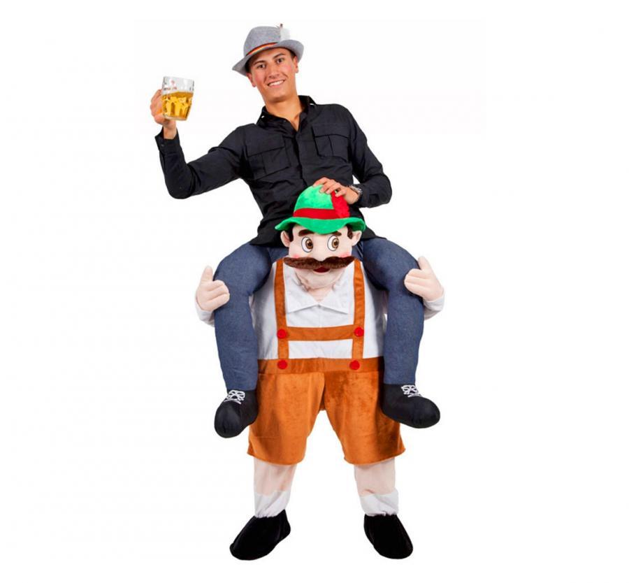 Oktoberfest Ride On Piggyback Beer Man Costume 0