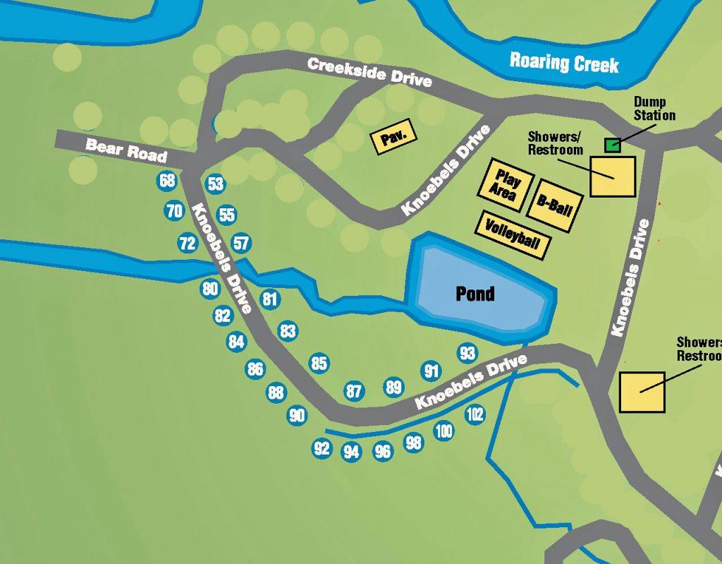 Knoebels Lake Glory Map