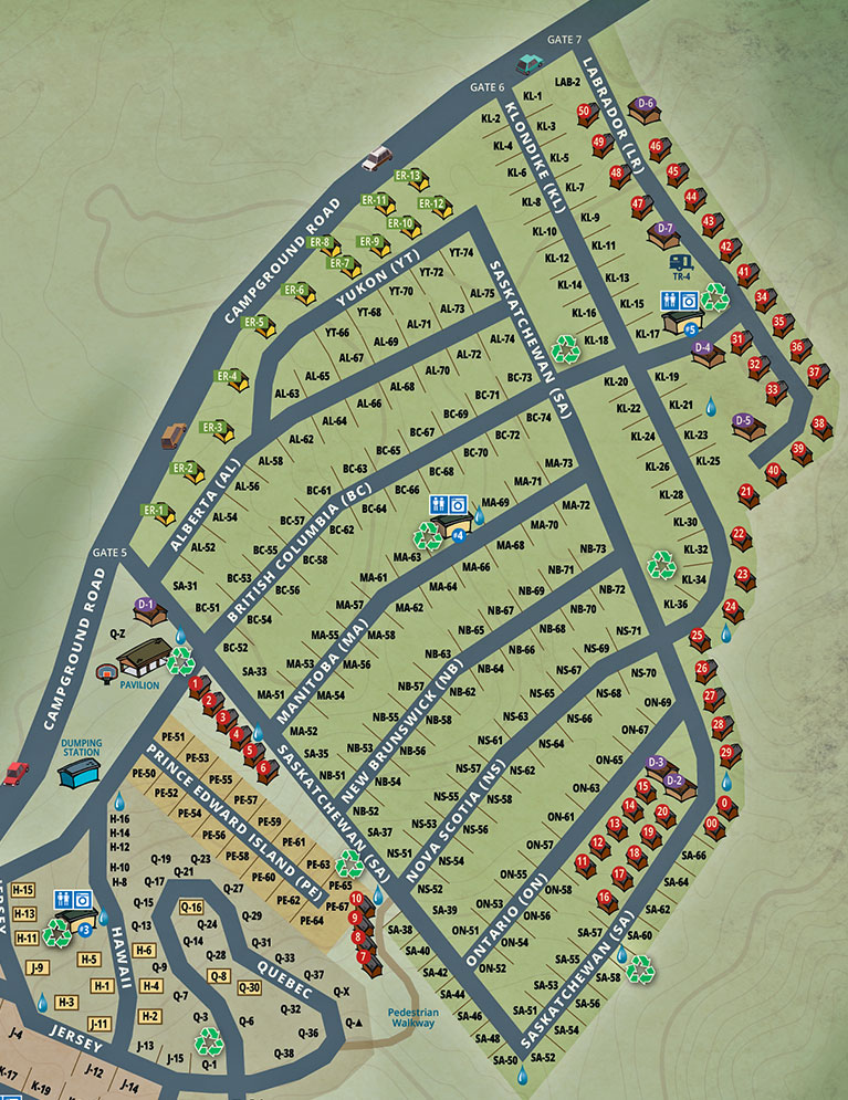 Knoebels-Campground-Map