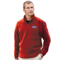 Cambridge Unisex 1/4 Zip Fleece Jacket (Red or Royal Blue Only) - price is for red, royal blue is + $5